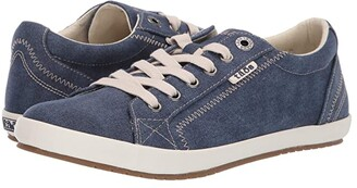 Taos Footwear Star (Blue Washed Canvas) Women's Lace up casual Shoes