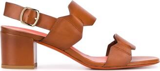Santoni Double-Strap Heeled Sandals