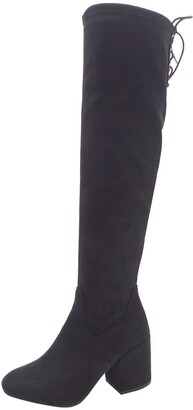 Wild Diva Lounge Ada Over-The-Knee Block Heel Boot