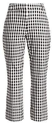 Derek Lam 10 Crosby Women's Gingham Crop Flare Pants