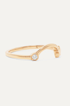 Andrea Fohrman Shooting Star 14-karat Gold Diamond Ring - 5