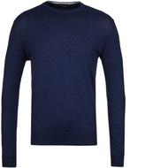 Hackett Navy Cotton Cashmere Crew Neck Sweater