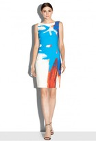 Milly Modern Abstract Print Sheath Dress