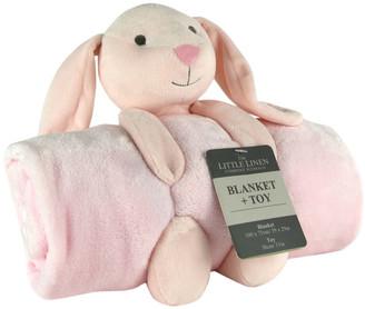 The Little Linen Company Little Linen Plush Toy & Blanket - Bunny
