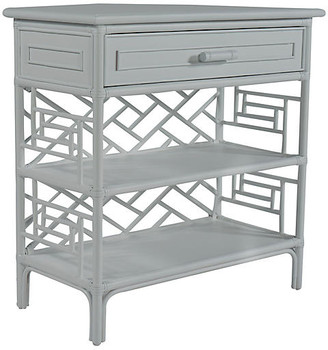 David Francis Furniture Chippendale Side Table - Light Gray