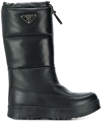Prada toggled snow style boots