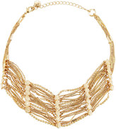 Lydell NYC Golden Multi-Strand Textured Chain Choker Necklace