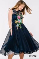 Jovani Sleeveless Floral Cocktail Dress 41397