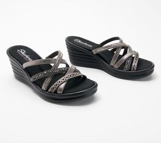 Skechers Multi-Strap Wedge Sandals - Rumbler Wave New Lassie