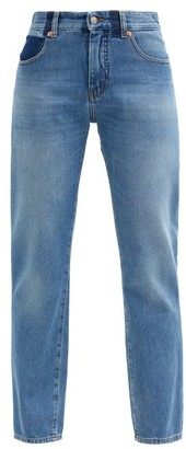 MM6 MAISON MARGIELA Straight-leg High-rise Denim Trousers - Denim