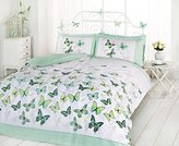 Art Single Duvet Cover and 1 Pillowcase Bed Set, Polycotton, Green