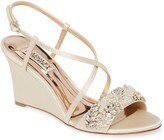 Badgley Mischka Collection Clarisa Embellished Wedge Sandal