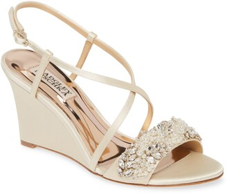 Badgley Mischka Clarisa Embellished Wedge Sandal