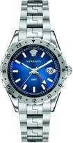 Versace Men's V11010015 HELLENYIUM Gmt Analog Display Swiss Quartz Silver Watch