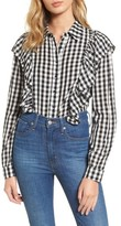 Love, Fire Women's Ruffle Gingham Shirt