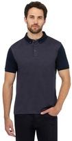 J By Jasper Conran Dark Blue Jacquard Polo Shirt
