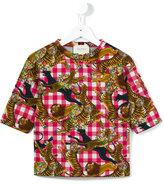 Gucci Kids - jungle animal print T-shirt - kids - Cotton - 4 yrs