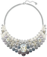 Swarovski Silver-Tone Ombré Imitation Pearl and Crystal Collar Necklace