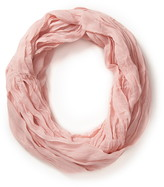 Forever 21 undone pleated infinity scarf