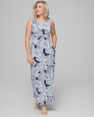 Soma Intimates High Neck Maxi Dress with Built-In Shelf Bra
