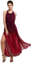 Romanstii Women Bohemian Style Halter Backless Beach Long dress