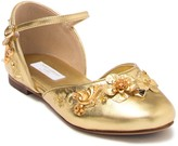 Dolce & Gabbana Floral Leather Flat (Toddler. Little Kid, & Big Kid)