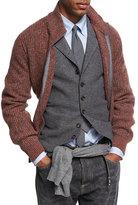 Brunello Cucinelli Melange Cashmere Zip-Front Cardigan