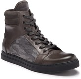 Kenneth Cole New York Double Header High-Top Leather & Suede Sneaker