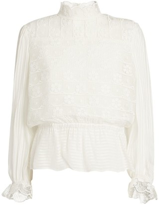 Sandro Floral Embroidered Top
