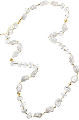 Farra Freshwater Pearls With White Quartz & Crystal Multi-Way Necklace
