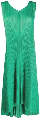 Pleats Please Issey Miyake Sleeveless Pleated Shift Dress