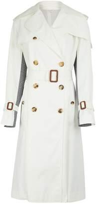 Alexander McQueen Dual-material trench coat