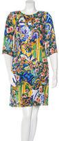 Dolce & Gabbana Majolica Print Shift Dress w/ Tags