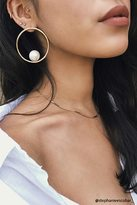 Forever 21 FOREVER 21+ Faux Pearl Hoop Earrings