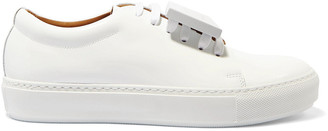 Acne Studios Adriana Plaque-detailed Patent-leather Sneakers
