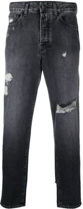 Marcelo Burlon County of Milan Carrot-Fit Distressed Jeans