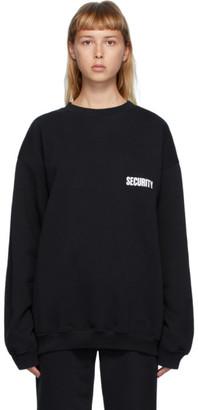 Vetements Black Security Sweatshirt