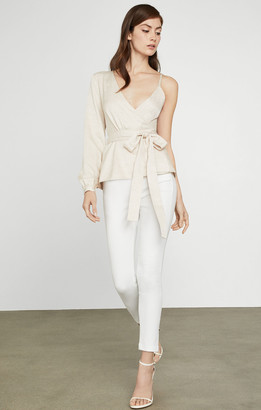 BCBGMAXAZRIA Single Sleeve Wrap Top