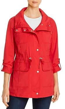 Cole Haan Packable Zip-Front Rain Jacket