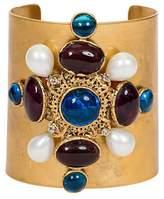 Chanel Blue Maltese Gripoix Cuff