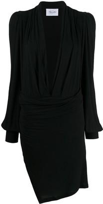 Redemption plunging V-neck gathered dress