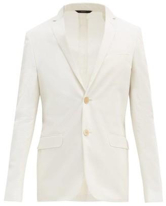 Fendi Single-breasted Cotton-blend Jacket - White