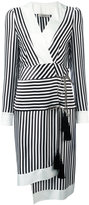 Etro striped wrap dress