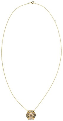 Harwell Godfrey 18kt Yellow Gold Mother Of Pearl Elements Stone Inlay Necklace