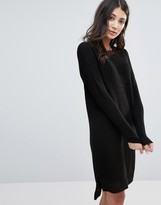 Brave Soul Zip Back Sweater Dress