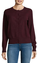 Lord & Taylor Cashmere Crew Neck Cardigan