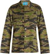 MiH Jeans Camouflage-print box-cut cotton jacket