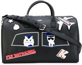 Karl Lagerfeld patch holdall bag - women - Leather/PVC - One Size