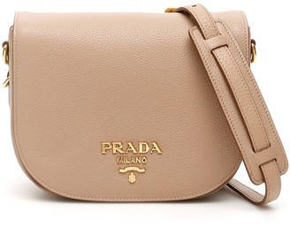 Prada Logo Foldover Shoulder Bag
