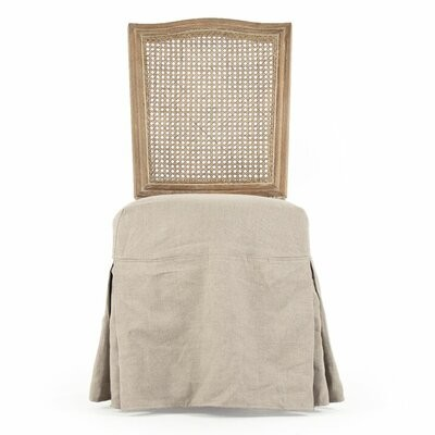 """Thumbnail for your product : One Allium Way Pelle 19"""" Wide Linen Side Chair"""